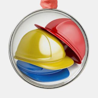 Safety helmets metal ornament