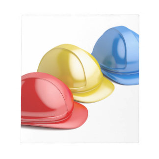 Safety helmets notepad