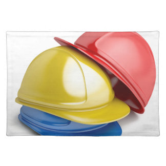 Safety helmets placemat