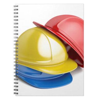 Safety helmets spiral notebook