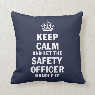 SAFETY OFFICER THROW PILLOW