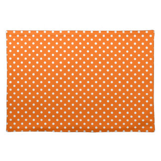 Safety Orange Polka Dot Pattern Placemat