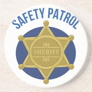 Safety Patrol Beverage Coasters
