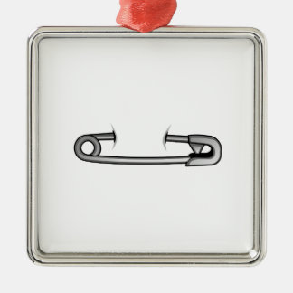 safety pin 1 metal ornament