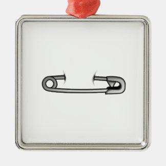 safety pin 1 Silver-Colored square ornament