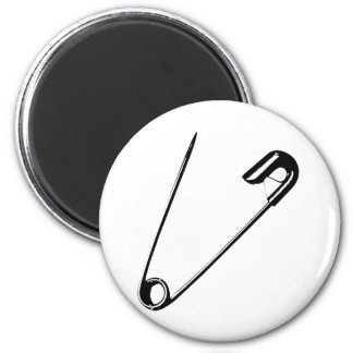 SAFETY PIN 2 INCH ROUND MAGNET