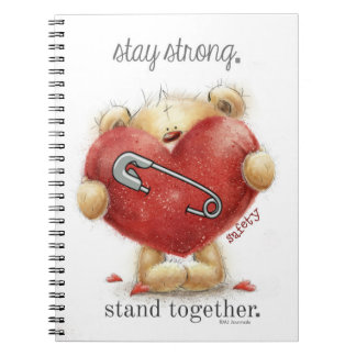 Safety Pin - Bear - Stay Strong. Stand Together Spiral Notebook