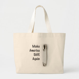 Safety Pin Large Tote Bag