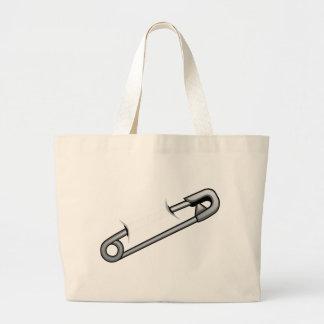 Safety Pin Large Tote Bag