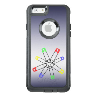 Safety Pin Red Yellow Blue Rainbow Solidarity OtterBox iPhone 6/6s Case