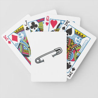 Safety pin solidarity bicycle playing cards