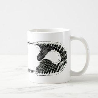 Safety Pin Woodcut Coffee Mug