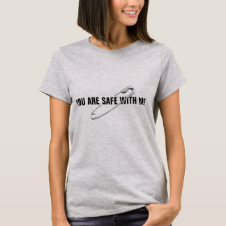 "Safety Pin ""You Are Safe With Me"" Anti-Abuse T-Shirt"