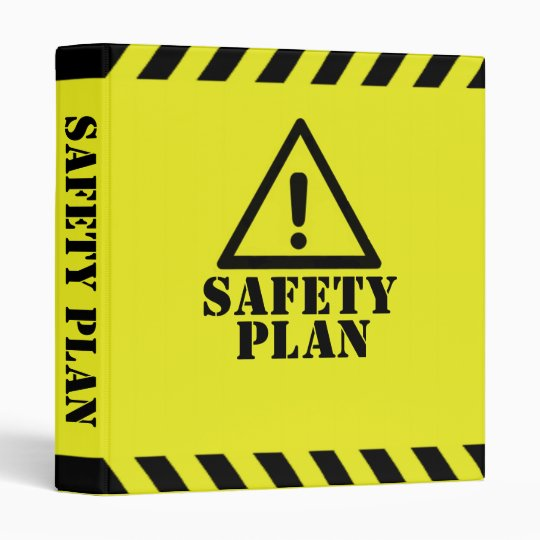 Safety Plan Vinyl Binder | Zazzle