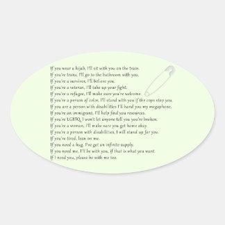 Safety Pledge Oval Sticker