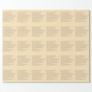 Safety Pledge Wrapping Paper