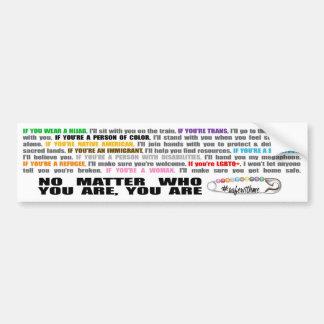 #SafeWithMe Bumper Sticker