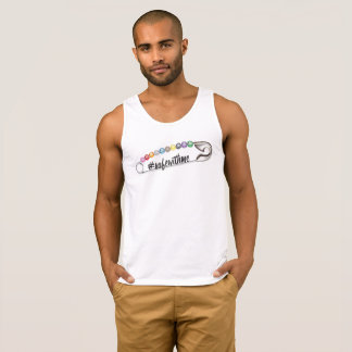 #SafeWithMe Men's Basic Tank Top