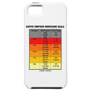 Saffir-Simpson Hurricane Scale (Wind Scale) iPhone 5 Case