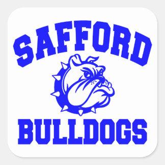 Safford Bulldogs Square Sticker
