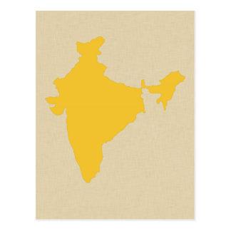 Saffron Blue Spice Moods India Postcard