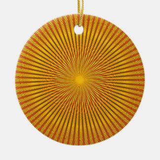 Saffron Illusion Round Ceramic Ornament