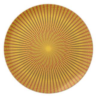 Saffron Illusion Party Plates