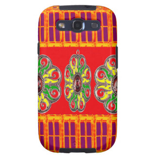 Saffron Red Holy Color Energy Healing Jewels India Galaxy S3 Cases