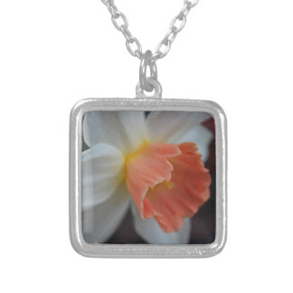 Saffron Ring Silver Plated Necklace