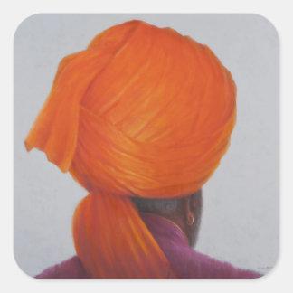 Saffron Turban 2014 Square Sticker