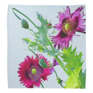 Sagacious Baroness with Poppy fern Kerchief/ Do-rag