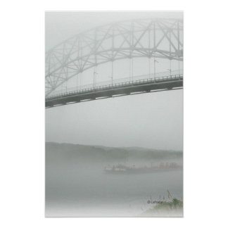 Sagamore Bridge in Fog Poster