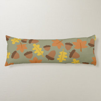 Sage Acorns Body Pillow