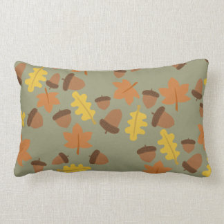 Sage Acorns Lumbar Pillow
