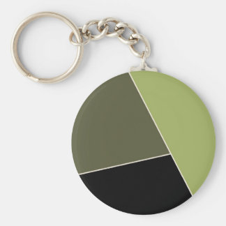 Sage and Lichen Green Color Block Key Chains