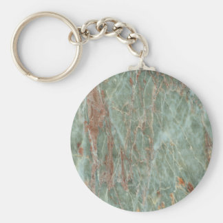 Sage and Rust Marble Basic Round Button Keychain