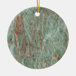 Sage and Rust Marble Ceramic Ornament