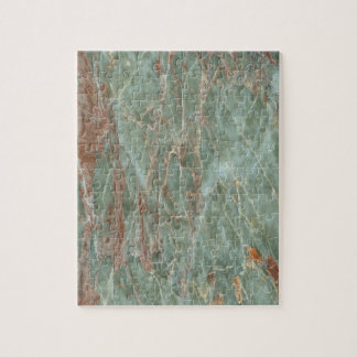 Sage and Rust Marble Jigsaw Puzzle