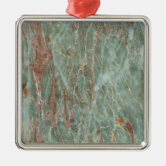 Sage and Rust Marble Metal Ornament