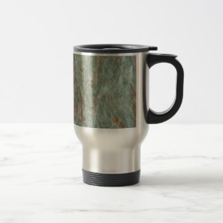 Sage and Rust Marble Travel Mug