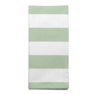 Sage and White Striped Cloth Napkin