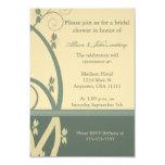Sage Canary Floral Vine Bridal Shower Invitation