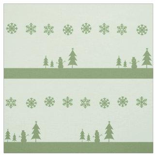 sage christmas fabric