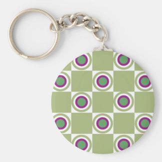 Sage Circles Basic Round Button Keychain