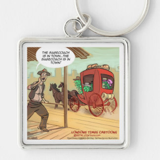 Sage Coach Is In Town Funny Silver-Colored Square Keychain