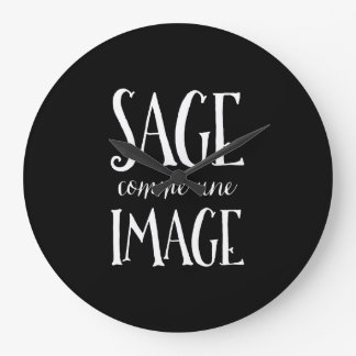 Sage Comme Une Image - Good as Gold French Saying Wall Clock