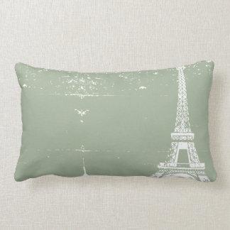 Sage Eiffel Tower Custom Cotton Pillows