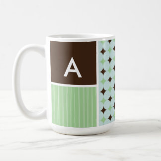 Sage Green Brown Coffee Mugs