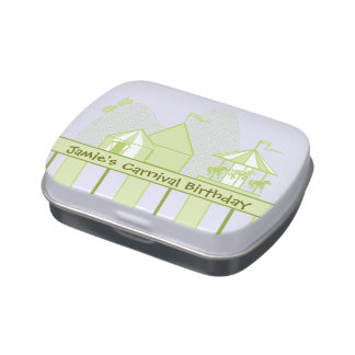 Sage Green Carnival Theme Children's Party Favor
