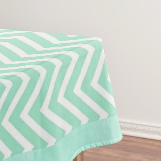 Sage Green Chevron Striped Tablecloths